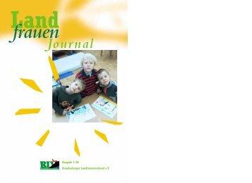 Ausgabe 1/2000 (PDF Datei) - Brandenburger Landfrauenverband eV