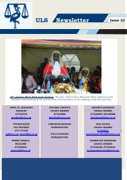 ULS Newsletter Issue 22 - Uganda Law Society