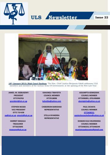 ULS Newsletter Issue 22 - Uganda Law Society