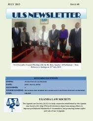 ULS Newsletter Issue 9 of 2013 - Uganda Law Society