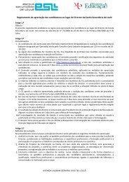 Regulamento de apreciação das candidaturas ao lugar de ... - DREAlg