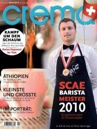 barista - crema Magazin Schweiz