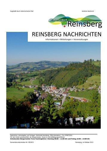 REINSBERG NACHRICHTEN - Burgarena Reinsberg