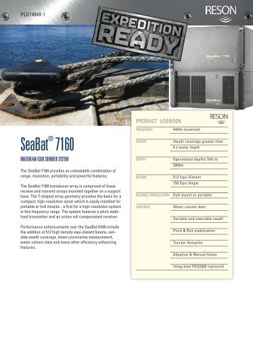 Reson Seabat 7160 - Seafloor Systems, Inc