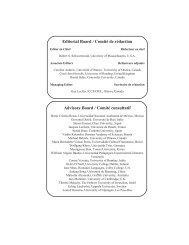 International Journal of Canadian Studies / Revue internationale d