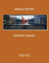 annual report rapport annuel 2010-2011 - Conseil international d ...