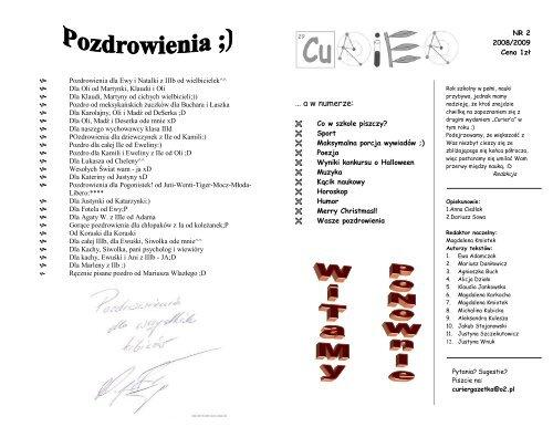 â A W Numerze Gimnazjum Nr 1 Im Marii Skåodowskiej