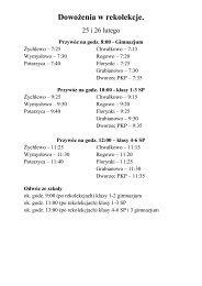 Dowożenia w rekolekcje 2013.pdf - Zespół Szkoły Podstawowej i ...
