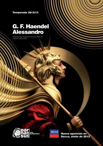 G. F. Haendel Alessandro - parnassus.at