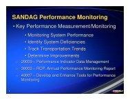 SANDAG Performance Monitoring