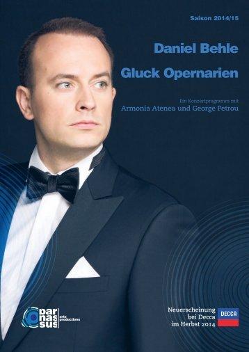 Daniel Behle Gluck Opernarien - parnassus.at