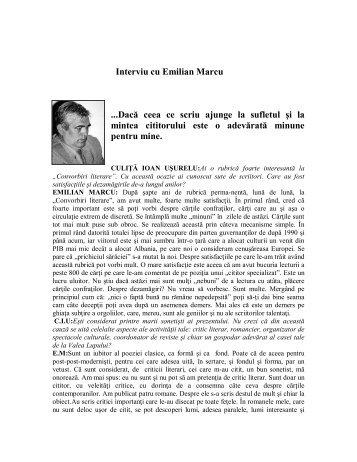 Interviu cu Emilian Marcu - culitaioanusurelu.ro