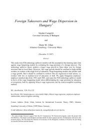 Foreign Takeovers and Wage Dispersion in Hungary