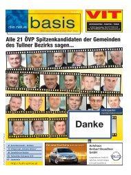Alle 21 ÖVP Spitzenkandidaten der Gemeinden des Tullner Bezirks ...