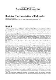 Consolatio Philosophiae Boethius: The Consolation of Philosophy ...