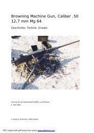 Vortrag Browning M2 - Gesellschaft Waffen und Militaria