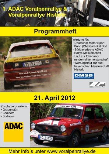 Programmheft - ADAC Voralpen-Rallye