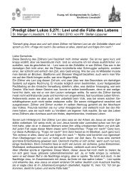 Predigt über Lukas 5,27f.: Levi und die Fülle des Lebens