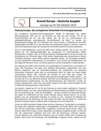 Around Europe - Deutsche Ausgabe