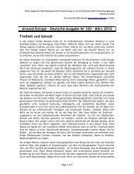 Around Europe - Deutsche Ausgabe Nr 320 – März 2010 Freiheit ...
