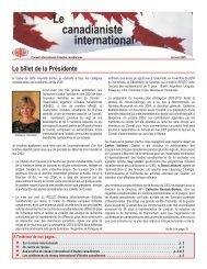Janvier - Conseil international d'études canadiennes