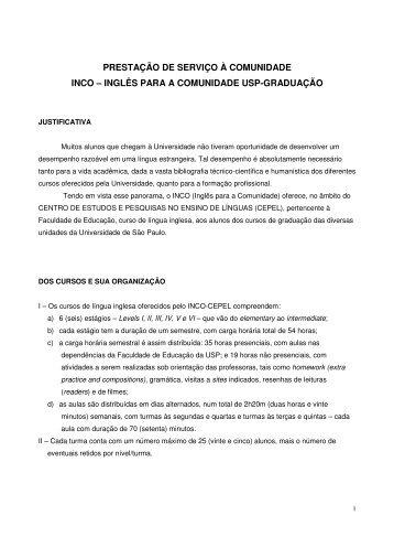 normas do inco-cepel - Faculdade de Educação da USP