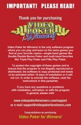IMPORTANT! PLEASE READ! - Bob Dancer Video Poker Expert Play