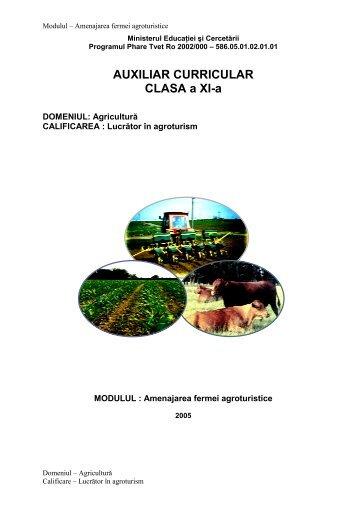 AGRICULTURA XI AMENAJAREA FERMEI ... - cndipt