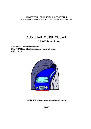 ELECTROMECANICXI MECANICA MATERIALULUI ... - cndipt