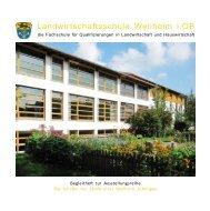 Landwirtschaftsschule Weilheim - Amt für Ernährung, Landwirtschaft ...