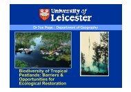Biodiversity of Tropical Peatlands: Barriers ... - SPLU.nl