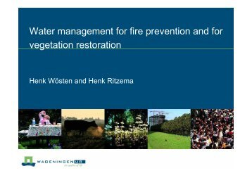 Water management for fire prevention and for vegetation ... - SPLU.nl