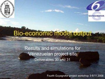 Bio-economic model output - SPLU.nl