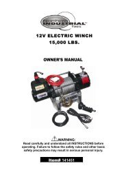 12V ELECTRIC WINCH 15000 LBS. OWNER'S MANUAL