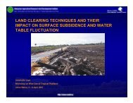 land clearing techniques and their impact on surface ... - SPLU.nl