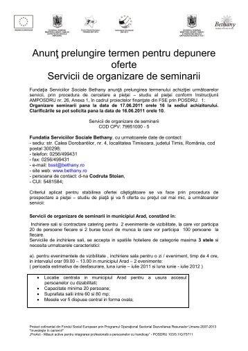 Anunţ achiziţie Servicii de promovare - Fundatia Serviciilor Sociale ...