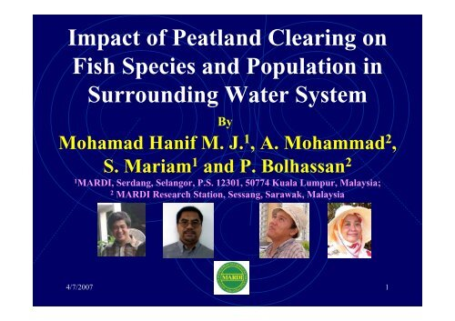 Impact of Peatland Clearing on Fish Species and ... - SPLU.nl
