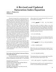 A Revised and Updated Saturation Index Equation - The Journal of ...