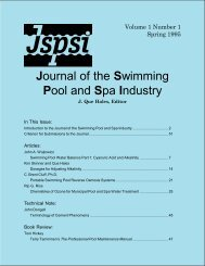 Journal of the Swimming Pool and Spa Industry