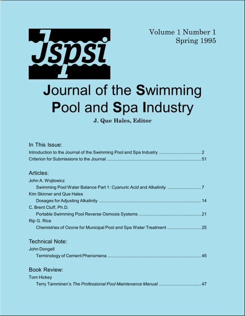 7d029183dff Journal of the Swimming Pool and Spa Industry