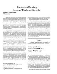Factors Affecting Loss of Carbon Dioxide - The Journal of the ...