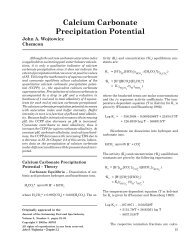 Calcium Carbonate Precipitation Potential - The Journal of the ...