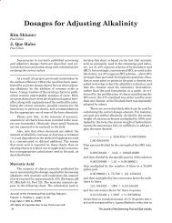 Dosages for Adjusting Alkalinity - The Journal of the Swimming Pool ...