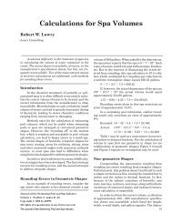 Calculations for Spa Volumes - The Journal of the Swimming Pool ...
