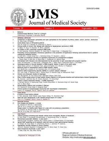 Journal of Medical Society, RIMS Imphal