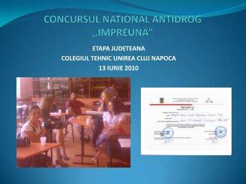 """CONCURSUL NATIONAL ANTIDROG ,,IMPREUNA"""""""