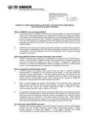 Guidance to legal representatives, advocates, non ... - unhcr