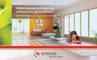 Wärmeversorgung effizient gestalten - N-ERGIE Effizienz GmbH