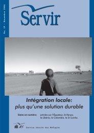 Intégration locale: plus qu'une solution durable - JRS