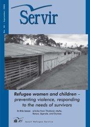 Refugee women and children – preventing violence ... - JRS